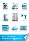 Set icon of household appliances — Stock Vector