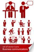 Icona set informativo aziendale — Vettoriale Stock