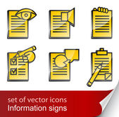Set informational sign icon — Stock Vector