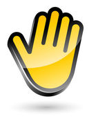 Gesticulate hand stop sign — Stock Vector