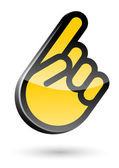 Gesture hand with forefinger — Vector de stock