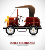 Vintage red automobile — Stock Vector