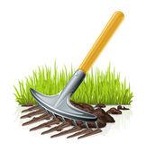 Garden rake — Stock Vector