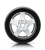 Car wheel — Vector de stock