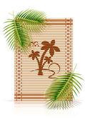 Bamboe mat tropic palm — Stockvector
