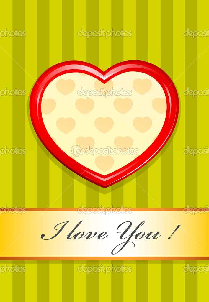 Valentine as heart vector illustration — Stock Vector #5872432
