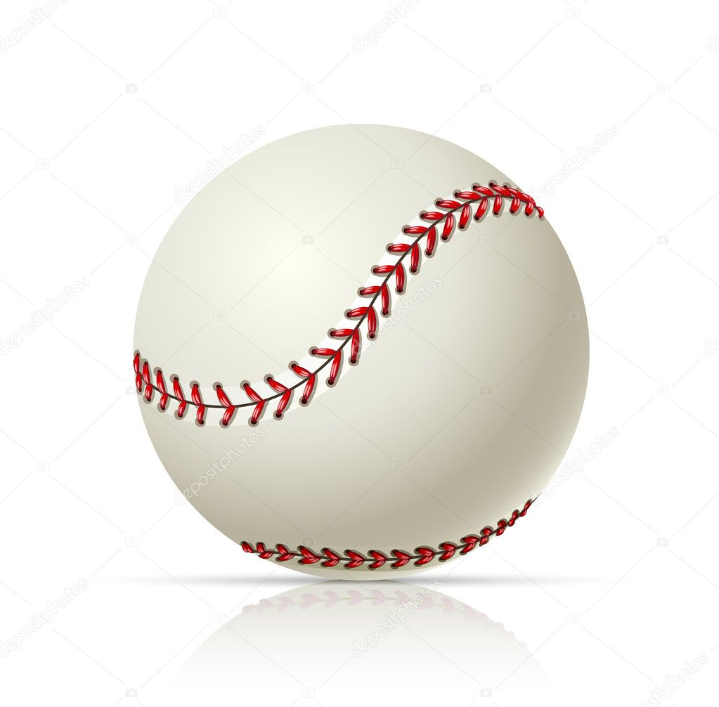 Baseball ball vector illustration isolated on white background  Stock Vector #5874663