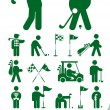 Set of golf icon — Stock Vector #6207794