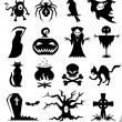Halloween set icon — Stock Vector