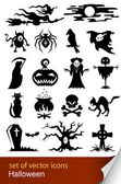 Halloween set icon — Stock Vector