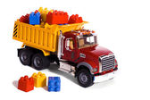 Dump truck toy — Stock Photo