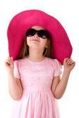 Cute girl in sunglasses — Stock Photo