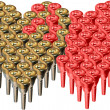 Trumpet mouthpieces hearts — Stock Photo