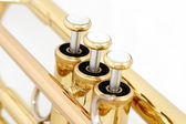 Golden trumpet valves — Stock Photo