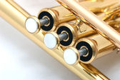 Gold trumpet — Stock Photo