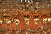 Many glasses — Stock Photo