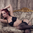 Redhead in lingerie — Stock Photo