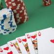 Poker royal flush — Stock Photo