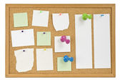 Message board with papers — Stock Photo