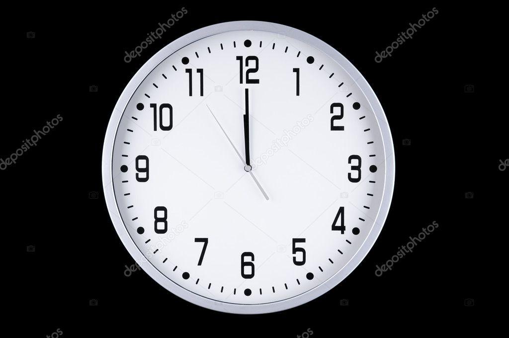 Big White Wall Clock Stock Photo Ijzendoorn 5904958