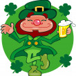 Leprechaun dancing a jig — Stock Photo