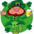 Leprechaun dancing a jig - Stock Photo