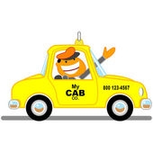 Taxicab driver cartoon — Stockfoto
