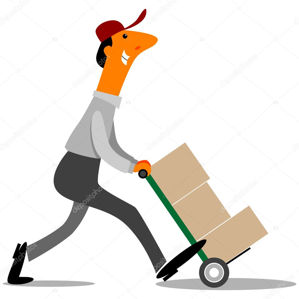 clipart delivery man - photo #32
