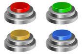 3 d の光沢のあるボタン — ストックベクタ