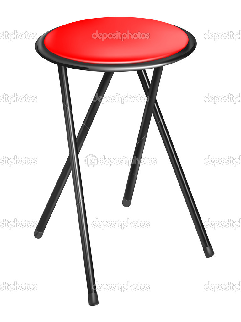 Vector convertible red chair on white background  Stock Vector #5878388