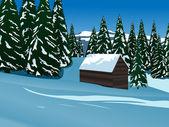 Idillio alpino — Vettoriale Stock