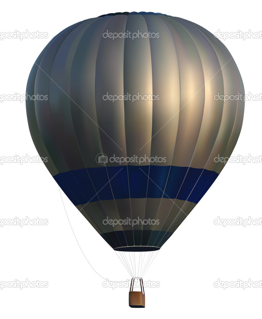 Vector photo realistic hot air balloon on white background — Stock Vector #5884853