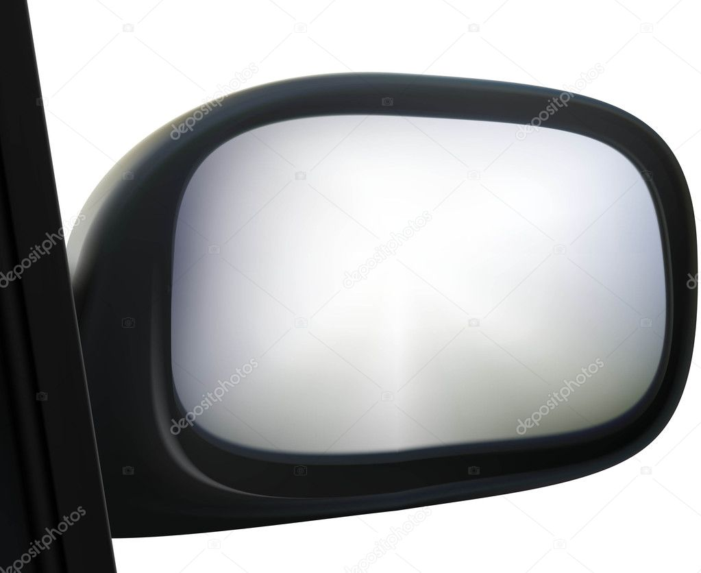 Car side mirror on white background — Stock Vector #5885216