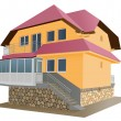 Stock Vector: New house