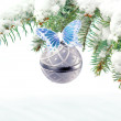 Christmas and New Year greeting card — Stock Photo