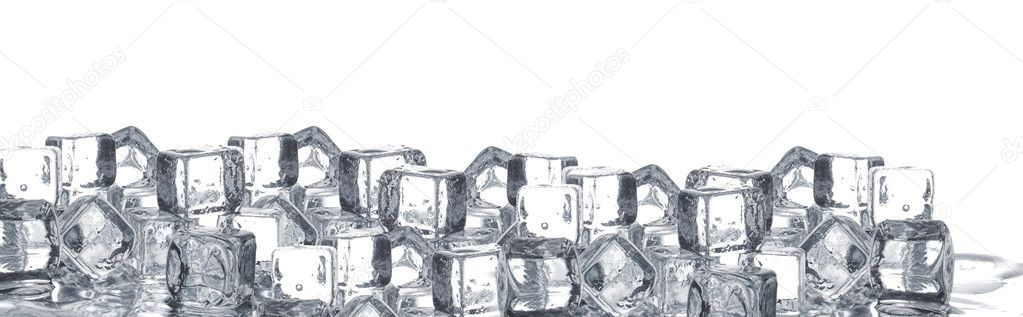 Melting ice cubes poster — Stock Photo #5902351