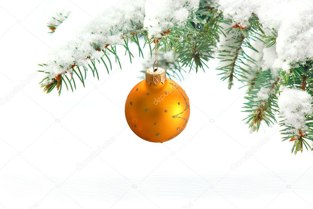 Bright christmas New Year greeting card composition — Stock Photo #5909242