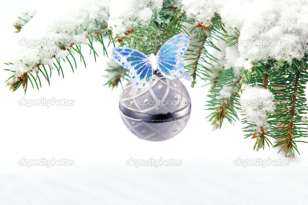 Bright christmas New Year greeting card composition — Стоковая фотография #5909335