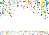 Serpentine confetti background - illustration, vector set — Stock Vector