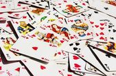 Scattered cards — Stock Photo