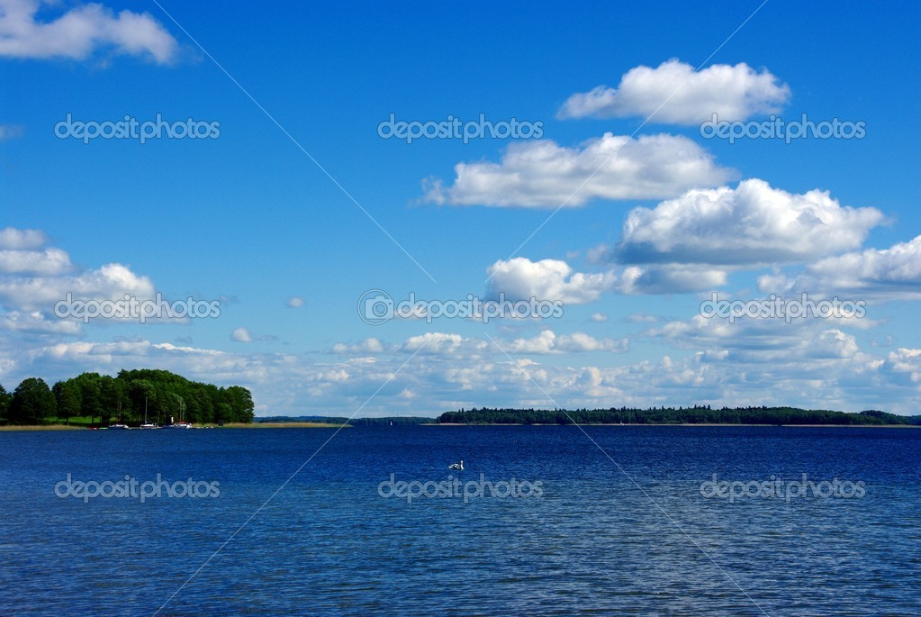 Masuria. Lake, sky, clouds... — Stock Photo #5906696
