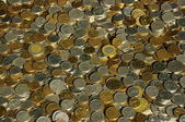 Gold and silver coins — Stock Photo