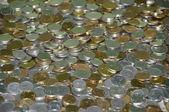 Rozsypane monety — Stock Photo