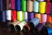 Colorful spools — Stock Photo