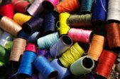 Colorful spools — Stock Photo