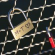 Padlock with heart - Stock Photo
