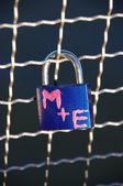Padlock of love — Stock Photo