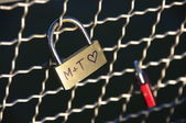 Padlock with heart — Stock Photo