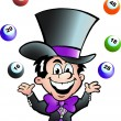 Hand-drawn Vector illustration of an Juggling Bingo Man - Stock Vector