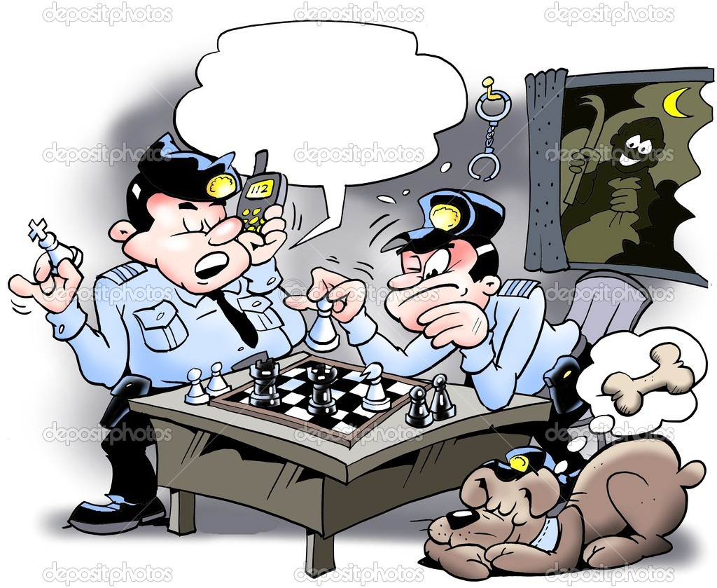 Galeria de Imagens Depositphotos_6279999-Cops-playing-chess---Thief-is-at-stake